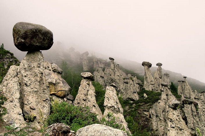 Stone mushrooms | Akkorum, Altai